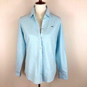 Vineyard Vines Oxford Long Sleeve Shirt Baby Blue